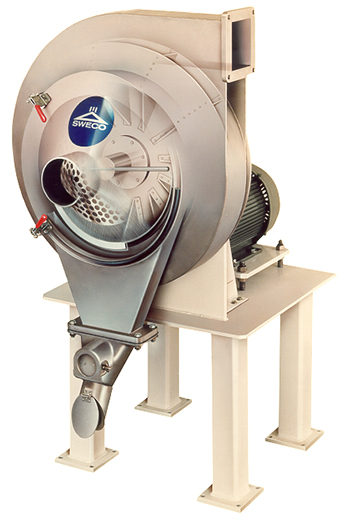 SWECO Turbo-Screen Air Classifiers provides continuous, precise screening of dry materials.