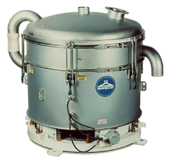 Pneumatic SWECO In-line Sifter is used to sift dry flowing material.