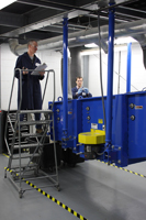 SWECO Tech Center utilizes a full-scale GyraMax Gyratory Sifter for use in the test facility